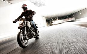 motocicletta, motociclista, citt, strada, motocicli