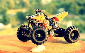 ATV, orange, Motorcycles