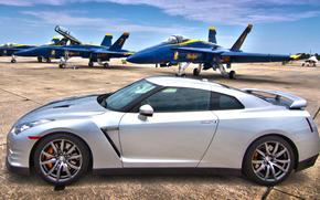 истребители, военный аэродром, Nissan