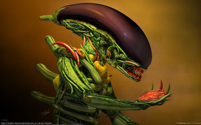vegetables, stranger, meat, humor, eggplant