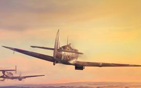 арт, самолёты, авиация, Вторая мировая война