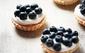 food, sladkeo, delicacy, cake, cream, blueberries, background, delicious, full screen