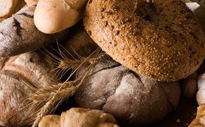 хлеб, мука, батоны, тмин, злаки