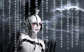 робот, числа, рендеринг