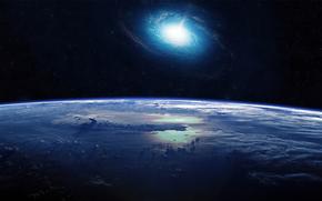 空间, 宇宙, 土地, 星系