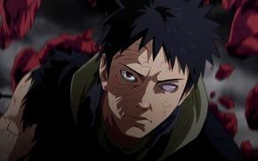 Naruto, hurricane chronicles, Uchiha, Obito, sharingan, rinnegan
