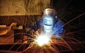 work, welding, background