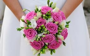 невеста, свадьба, букет, девушка