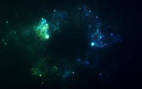 Arte, spazio, Stella, nebulosa, congestione