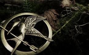 brooch, metal, bird, boom, grass, list