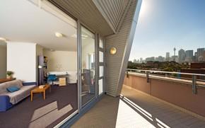 интерьер, стиль, дизайн, город, двухуровневые апартаменты, жилое пространство, балкон