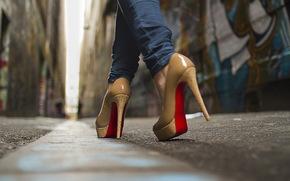 Street, Boots, macro, shoes, Boots, platform, shoes