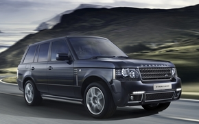 Land Rover, ranged rover, Vogue, jeep, SUV, front, road, Mountains, Land Rover