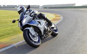BMW, motocicletta, Bicicletta, motociclista, autostrada, girare, girare, motocicli