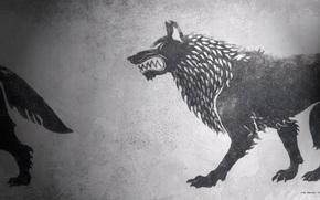Game of Thrones, Le Cronache del Ghiaccio e del Fuoco, serie, Rigido, stemma, lupo, L'inverno si avvicina