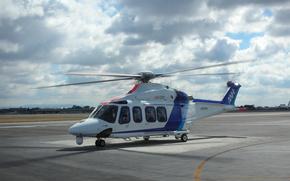 AgustaWestland, AW139, elicottero, nuvole