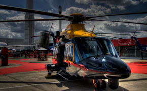 AgustaWestland, AW139, вертолет, облака