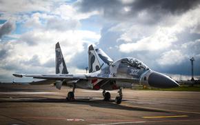 Sukhoi, Su-27, су-27сухой, небо, истребитель