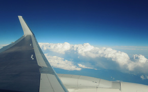 obl, nuvole, altezza, cielo, piano, profumatamente, pericolosamente