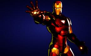 L'uomo di ferro, Iron Man, blu, rosso, Rigido, robot
