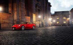 city, Street, Ferrari California, Ferrari