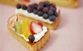 food, sweet, fruit, cake, pie, cream, strawberry, apricot, kiwi, background, wallpaper