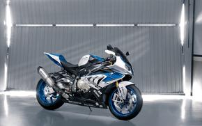 BMW, motocicletta, Bicicletta, garage, gate, sfondo, motocicli