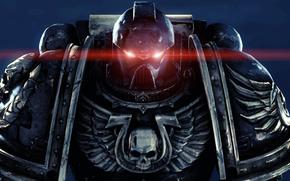 Space Marines, Power, armor, armor, helmet, visor, skull, wings, eyes, red