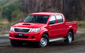 Тойота, Хайлакс, СР, Пикап, Обои, Красный, Полноприводный, Австралия, Япония, Австралийская версия, Toyota