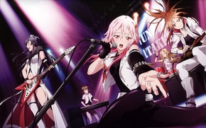 singing, music, scene, microphone, electric guitar, group