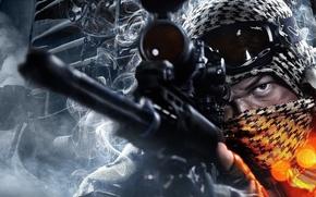 battlefield, 3, game, guy, Sniper