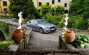 BMW, Garden, Sculpture, bmw