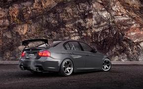 BMW, back, rock, bmw