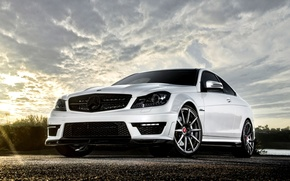 car, wallpaper, white, Mercedes, benzo, AMG, compartment, Tuning, Vorsteiner, Beautiful, machine, mercedes