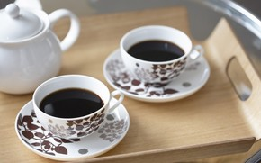 Mood, cup, Circles, Tea Party, coffee, plate, spoon, dishes, service, background, wallpaper