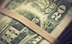 деньги, доллары, dollars, купюры, надпись, макро, цифра, размытость