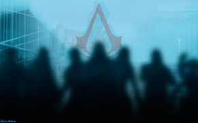 assassin's creed, people, shadow, Assasins