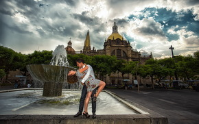 city, fountain, date