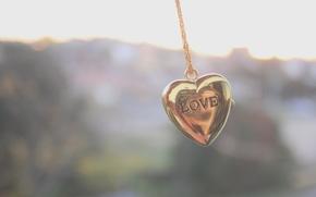настроение, украшение, аксессуар, цепь, цепочка, кулончик, кулон, сердце, сердецчко, фон, обои