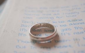 Humeur, anneau, mariage, inscriptions, papier, fond, papier peint