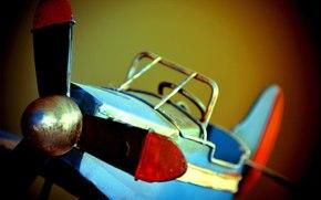 модель, металл, игрушка, самолёт