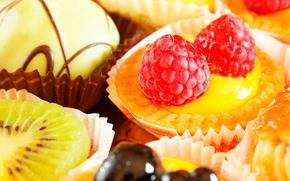 dissertator, fruit, raspberry, kiwi