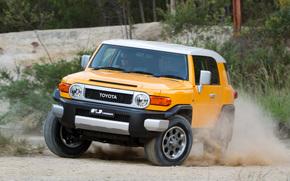 Toyota, EfDzhey, Cruiser, jeep, SUV, yellow, Japan, Australian version, Australia, toyota