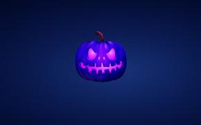 тыква, синий, halloween, хэллоуин