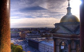 St. Petersburg, Peter, columns, St. Isaac's Cathedral, road