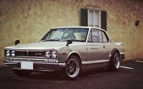 voiture, Papier peint, argent, Nissan, Skaynlayn, rm-r, Japon, beau, machine, Nissan
