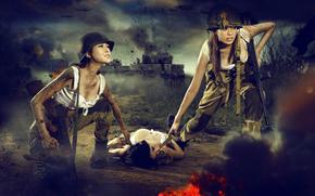 guerra, Serbatoi, arma, Giappone, Asiatici, ferito, situazione, Esplosioni, fuoco