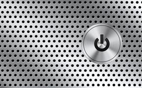 button, metal, openings