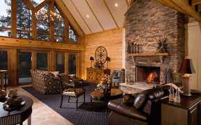 interior, style, design, home, villa, living room, living room, fireplace