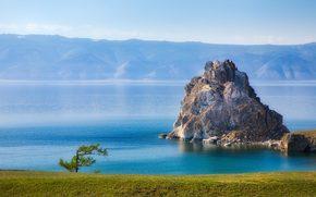 lake, Baikal, Olkhon, Cape Burhan, Rock Shaman, nature
